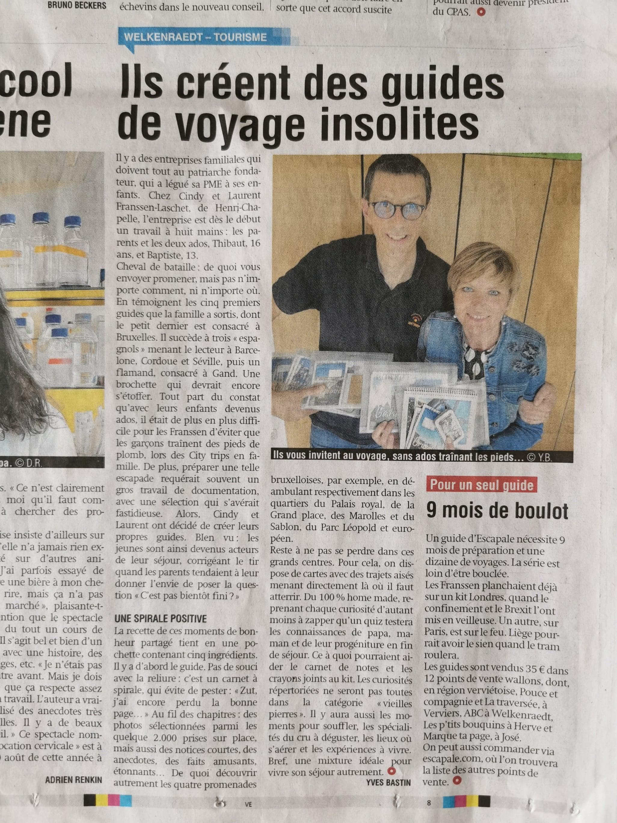 Article de presse La Meuse 22/06/2021